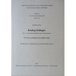 R. Koch, Katalog Esslingen. Die vor- und frühgeschichtlichen Funde im Heimatmuseum (1969)